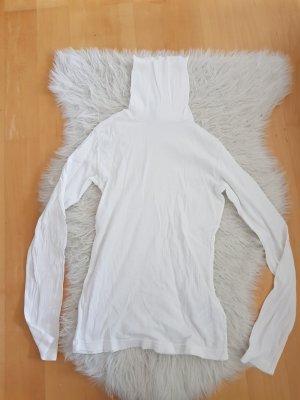 weißer Rollkragen Pullover