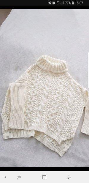 Weißer Rollkragen Pullover S neu