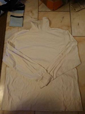 Weißer Rollkragenpullover
