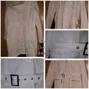 Weißer Schicker Mantel