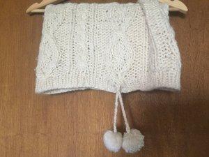 H&M Crochet Scarf white