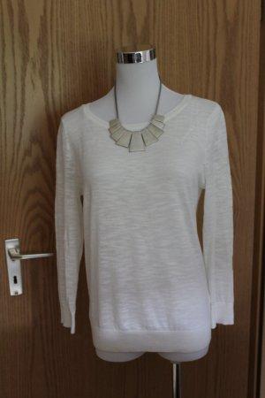 weißer schlichter Pullover