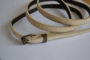 Weißer schmaler Gürtel Schlangenleder Optik Größe 34/36 S