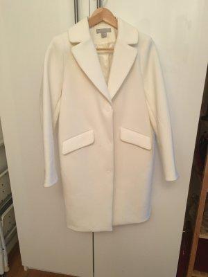 Weißer schöner gefütterter Mantel von h&m