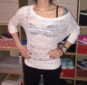 weißer schöner Strick Pullover S/M