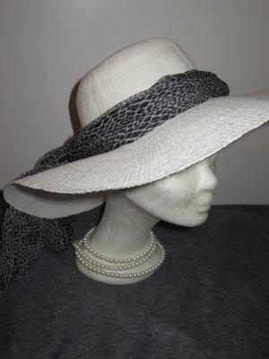Vintage Zonnehoed wit