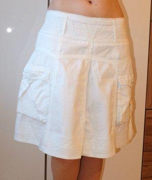 Promod Circle Skirt white cotton
