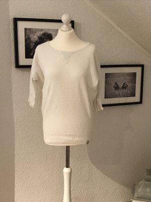 Weißer Sommerpullover mit 3/4 Arm in Größe S