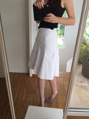 H&M Circle Skirt white