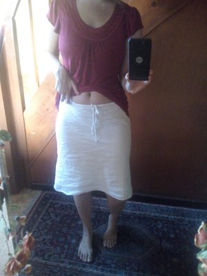 Weißer Sommerrock - hübsch und luftig