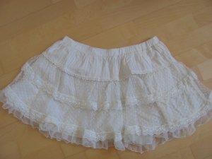 Weißer Spitzen-Tüllrock von Zara