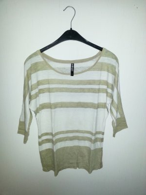 Short Sleeve Sweater white-beige