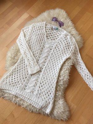 Weißer Strick Pullover