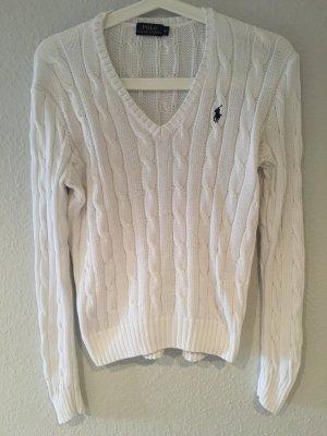 Weißer Strick-Pullover Ralph Lauren
