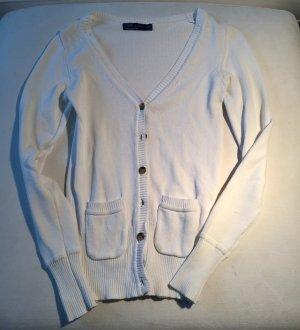 Weißer Strickcardigan von Zara