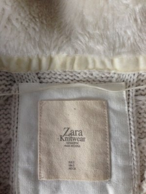 weißer Strickcardigan, Zara Größe S, Grobstrick