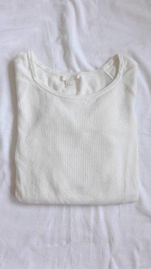 weißer Strickpullover H&M
