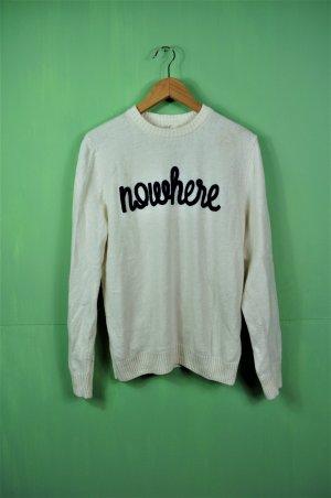 Weißer Strickpullover - Nowhere - H&M Logg - Unisex