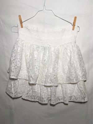 Vero Moda Kanten rok wit