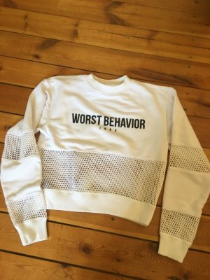 Worst Behavior Kraagloze sweater wit