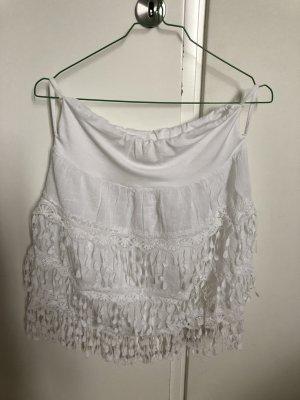 Fringed Skirt white