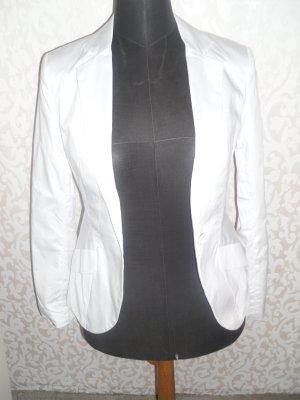 Weißer, taillierter Blazer Größe 34