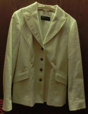 weißer taillierter cord blazer
