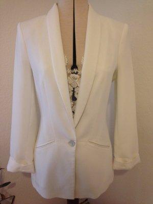 weißer taillierter Zara Blazer