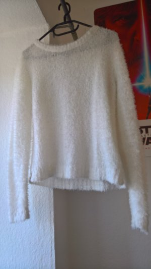 H&M Divided Pull tricoté blanc polyester