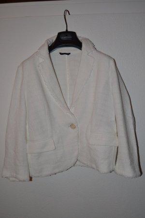 Weißer Tweedblazer von Sisley Gr. S