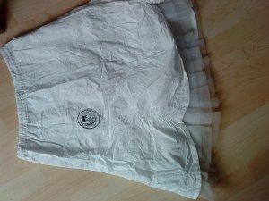 Weißer verspielter Sommerrock mit Tüllunterrock von no-no 36
