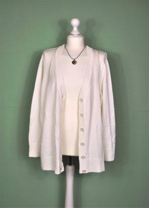 Weißer Vintage Cardigan mit Knopfleiste