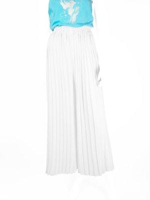 Weißer Vintage Hosenrock mit Falten