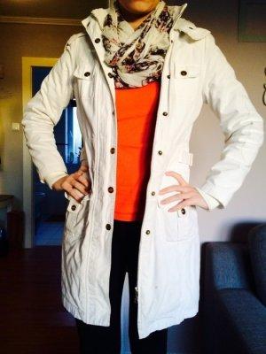 Weißer warmer Wintermantel gefüttert Gr. S 36 weiß Mantel Vero Moda