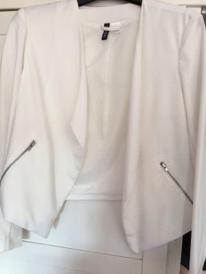 H&M Blazer corto crema-bianco