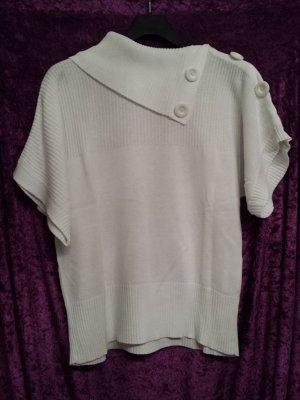 weißer weiter Kurzarm-Pullover von Yessica, Gr. XL