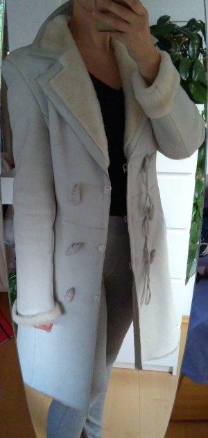 Cappotto invernale bianco-bianco sporco Pelle