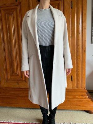 Weißer Woll-Mantel Schlaufe Oui Kaschmir