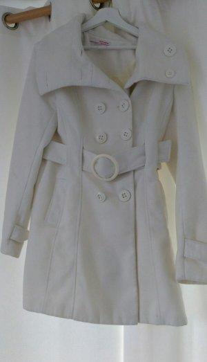 weißer Wollmantel Größe 40