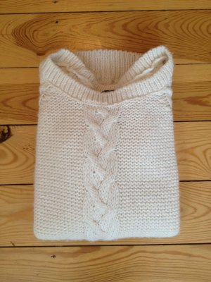 H&M Knitted Sweater white-cream mixture fibre