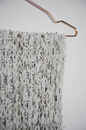 Zara Bufanda de lana blanco-marrón arena