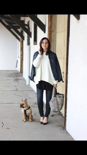 Weißer Zara Pullover