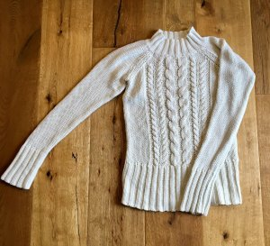 Cable Sweater white-natural white