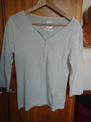 weißes 3/4-Arm-Shirt