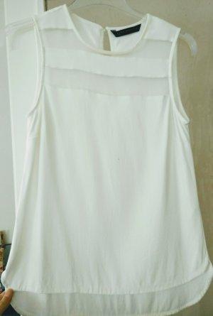 Weißes ärmellose Zara Top in Größe S