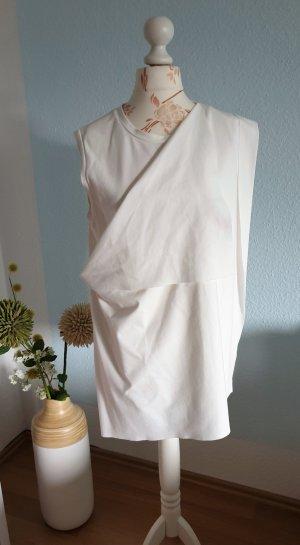 weißes asymmetrisches Oberteil, oversized Shirt von COS