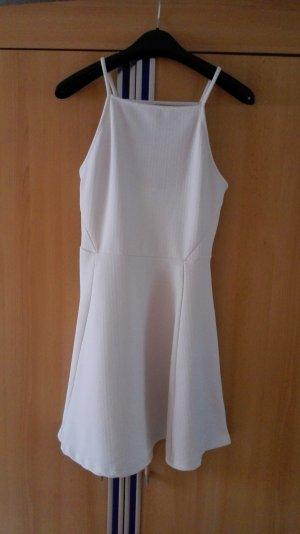 Weißes ausgestelltes Kleid mit Muster Größe 36 S