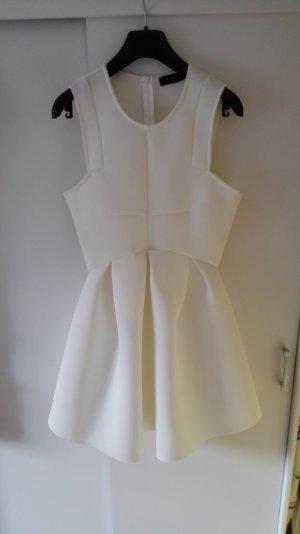 Weißes ausgestelltes Kleid Sommerkleid Größe 36 S