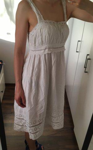 Babydoll-jurk wit Katoen