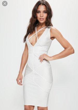 Weißes Bandage Kleid